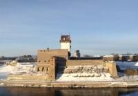 Нарвская крепость зимой