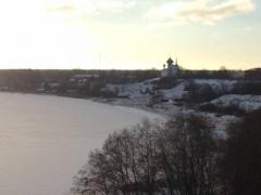 Вид с кургана Олегова могила, Старая Ладога