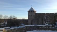 крепость Иваногрод зимой